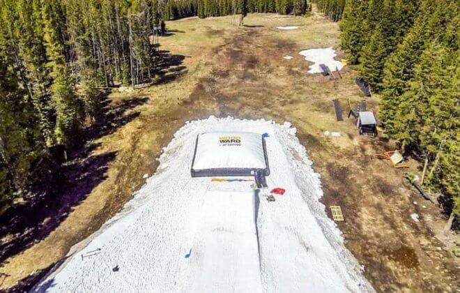 bagjump standalone airbag snowboarding skiing woodward