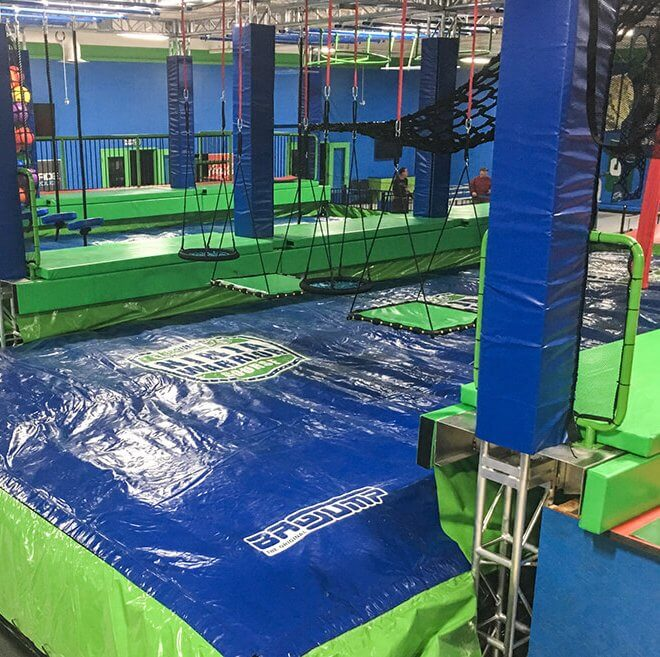 Warrior course with Bagjump foam pit airbag