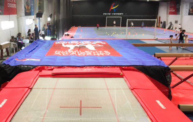 gymnastics foam pit replace bagjump airbag