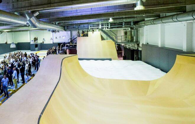 indoor freestyle academy foam pit bagjump airbag bike skate