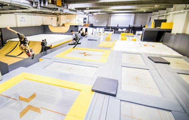 indoor freestyle academy foam pit bagjump airbag