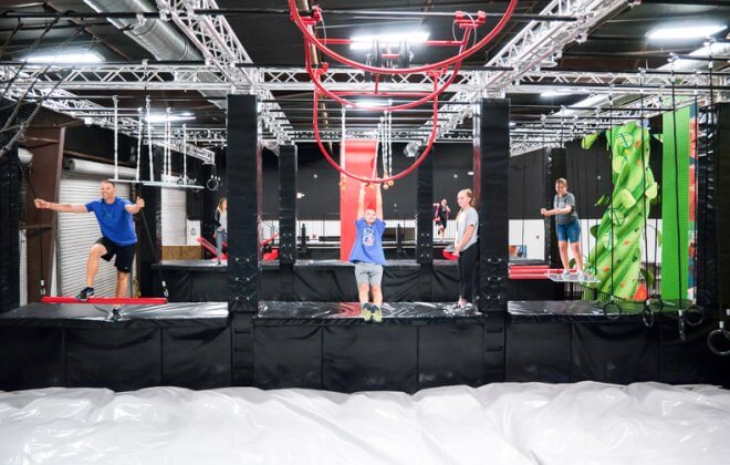 ultimate ninja warrior course airbag walltopia