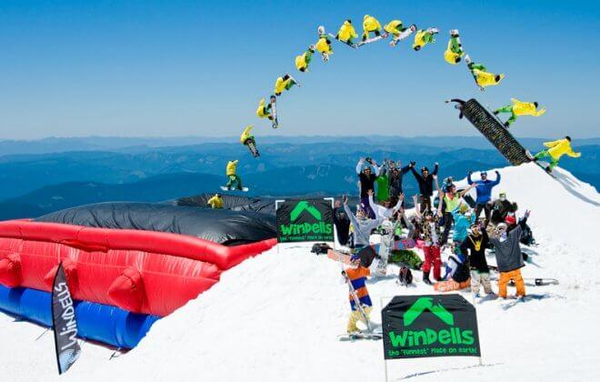 bagjump snowboard allround airbag windells