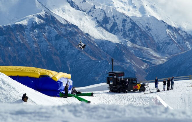 Red Bull new Zealand Performance Camp Bagjump airbag