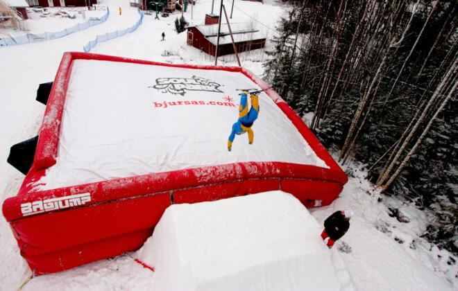 Bagjump allround skiing airbag at bjursas soulpark