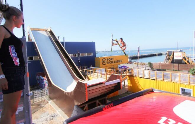 bagjump snowboard ski airbag jump airbag