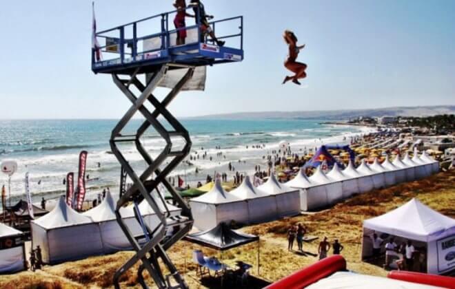 crane freedrop beach festival bagjump allround airbag