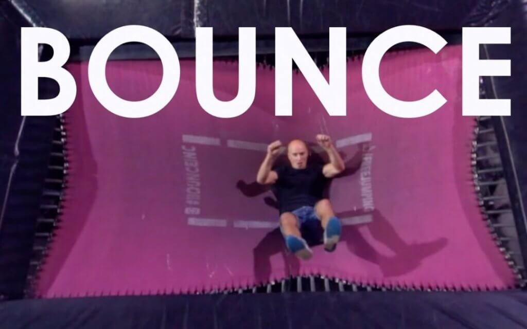 Damien Walters on a Bagjump Airbag for Bounce