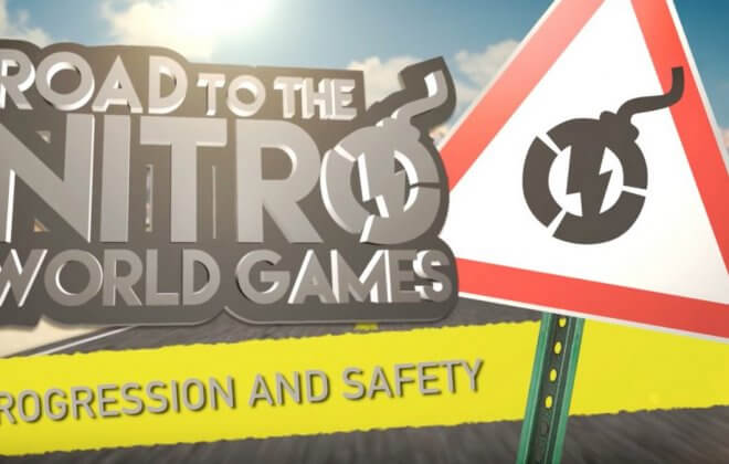 nitro world games progression safety sign