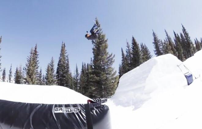 bagjump snowboard airbag