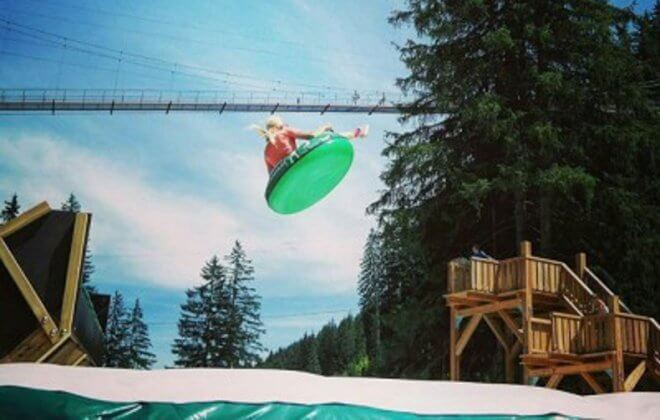 snowtube summer adventurepark airbag Bagjump