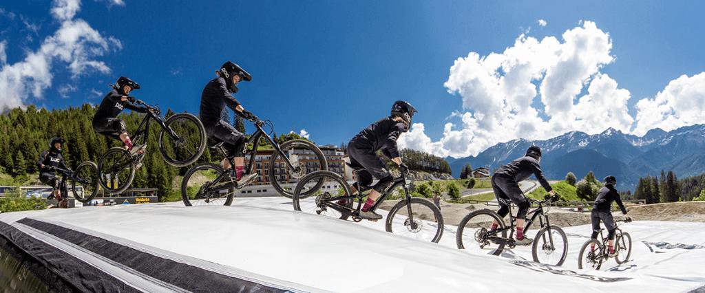landing airbag, bike park serfaus fiss ladis