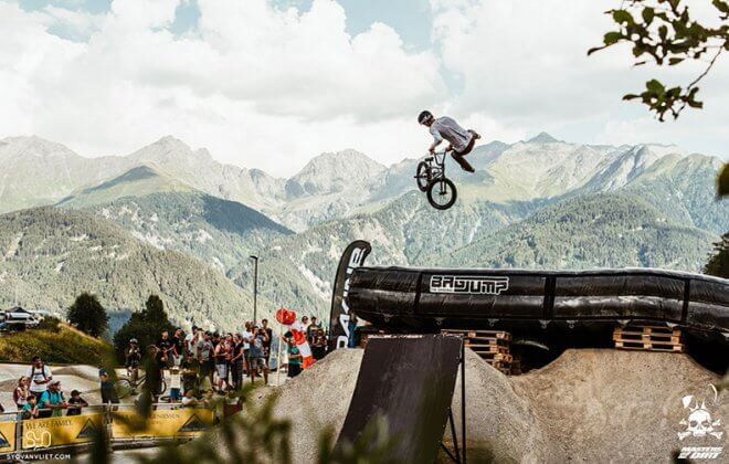 Masters of Dirt at Bike park Serfaus Fiss Ladis - Landing Bag