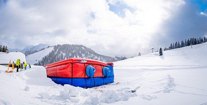 Bagjump Allround Airbag at Skiresort Niederalp