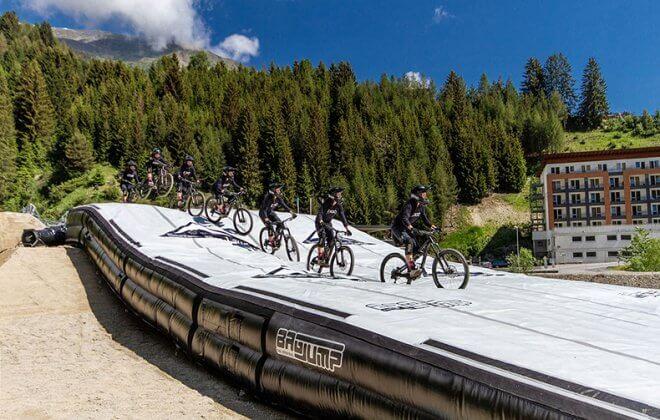 Bagjump Landing Bag the Serfaus Fiss Ladis Bikepark Austria