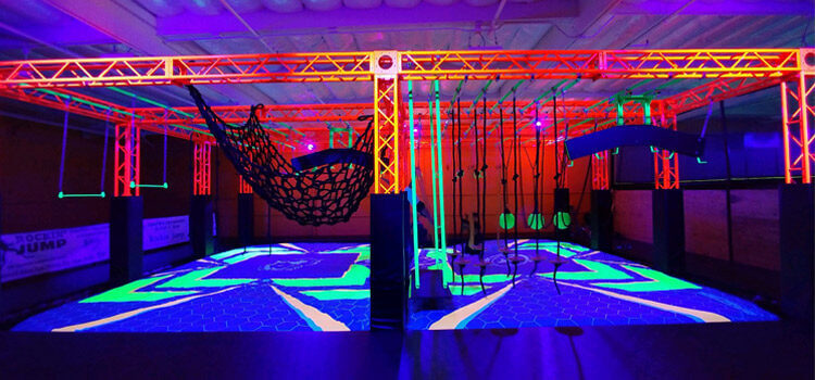 bagjump foam pit airbag neon course