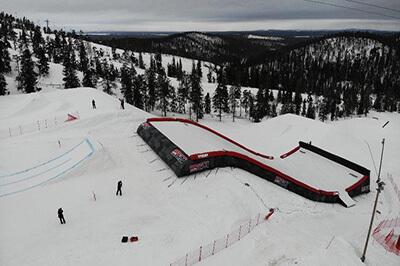 Landingbag Olympic size_Ruka Finnish national team_landingbag _ski snowboard_1