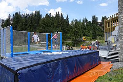 Titlis_engelberg_trampoline station 2 lane_foampit airbag standalone